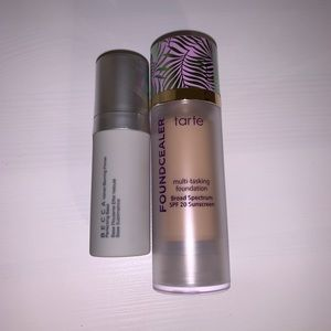 Tarte Foundcealer 16N and Becca primer